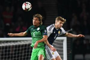 Stuart Armstrong was outstanding on his first match for Scotland
