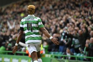 Celtic's Scott Sinclair celebrates has never been capped at senior level by England