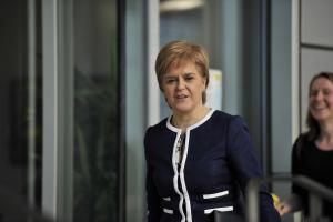 First Minister Nicola Sturgeon after meeting Theresa May in Glasgow