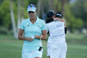 Paying the penalty: Lexi Thompson lost out on the ANA Inspiration title after a rules infringement (Picture: Getty Images)
