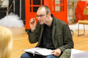 Playwright Douglas Maxwell at Charlie Sonata rehearsals-pic by Aly Wight