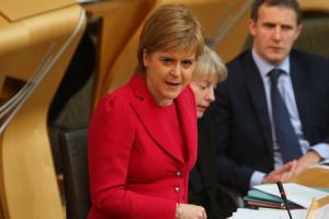 DEFIANT: First Minister Nicola Sturgeon has insisted that she has a mandate for a second independence referendum, even if the SNP loses seats in the General Election. Picture: Gordon Terris