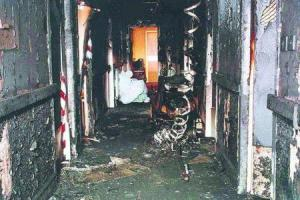 Corridor where blaze broke out at Rosepark Care Home in January 2004