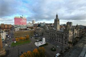 GV of Glasgow City Chambers, George Square, Glasgow city centre. Photograph taken from roof terrace of 5 George square.....   Photograph by Colin Mearns..28 October 2016.