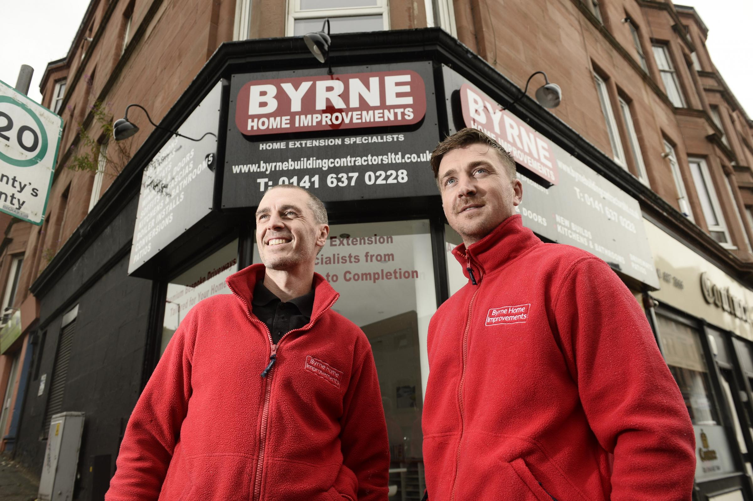 James Macklin (left) and Joseph Byrne (right) went into partnership fours years ago and are expanding their home improvement business