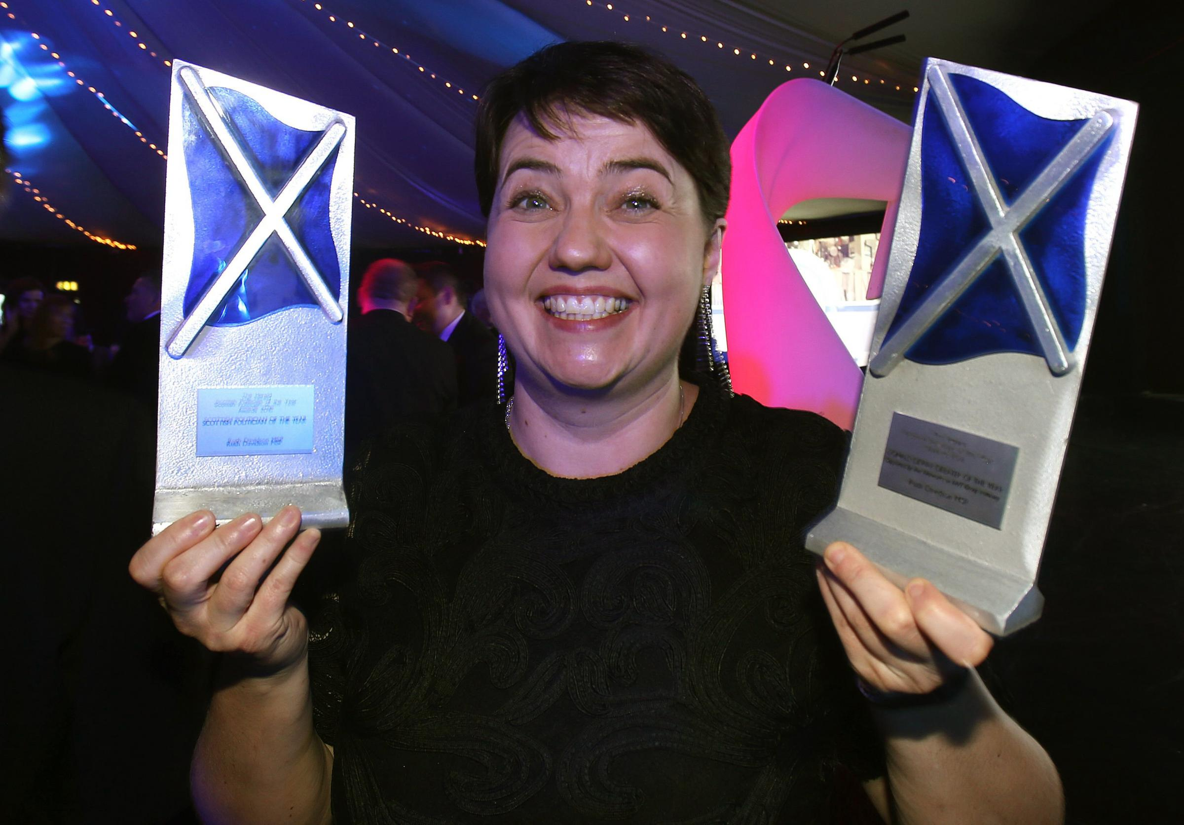 Ruth Davidson was named Herald Scottish Politician of the Year Awards 2016 at Edinburgh's Prestonfield House HotelPicture: Gordon Terris