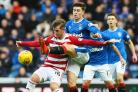 David Templeton took a bit of watching at Ibrox on Saturday   Picture: SNS
