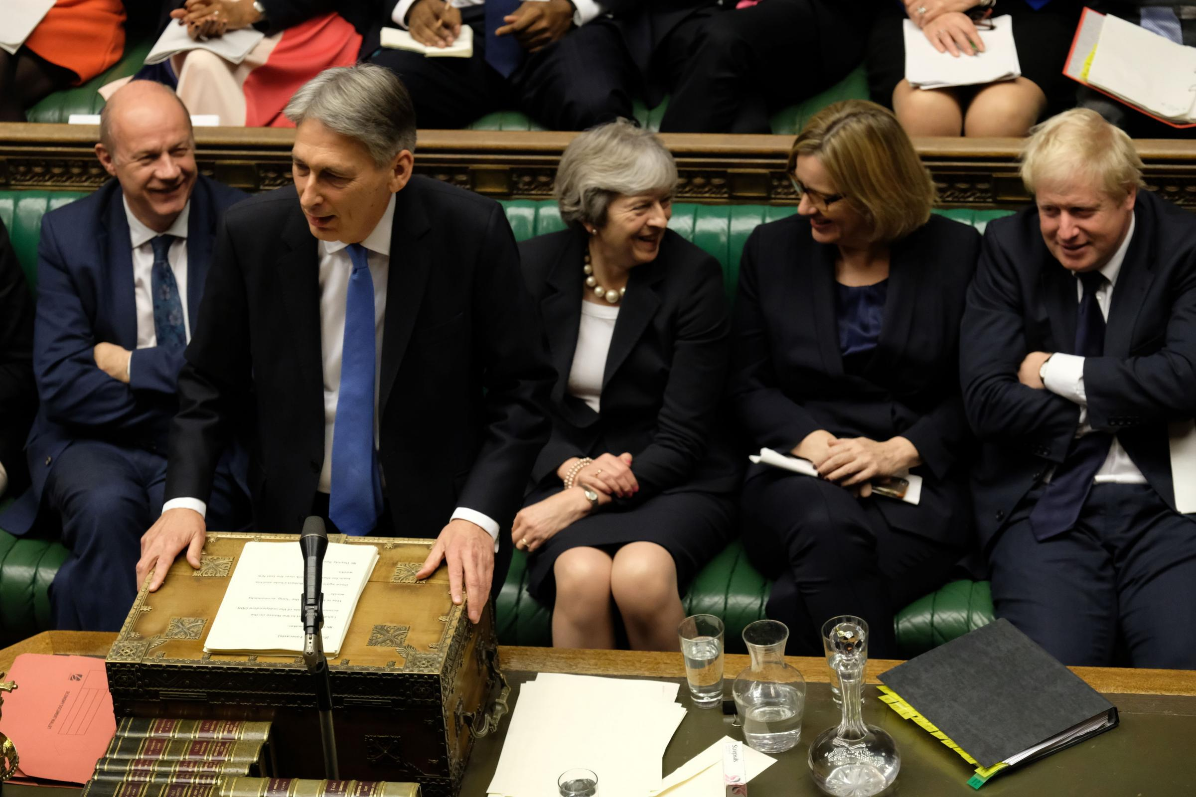 Chancellor Philip Hammond delivers his Budget in the House of Commons. Photograph: UK Parliament/Jessica Taylor/PA Wire