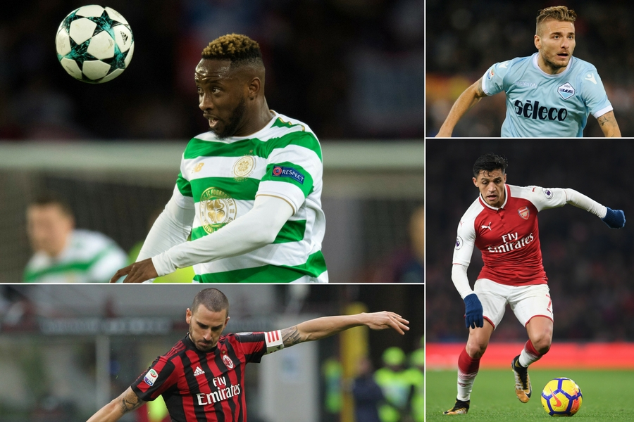 Lazio, Milan and Arsenal could face Celtic in the Europa League