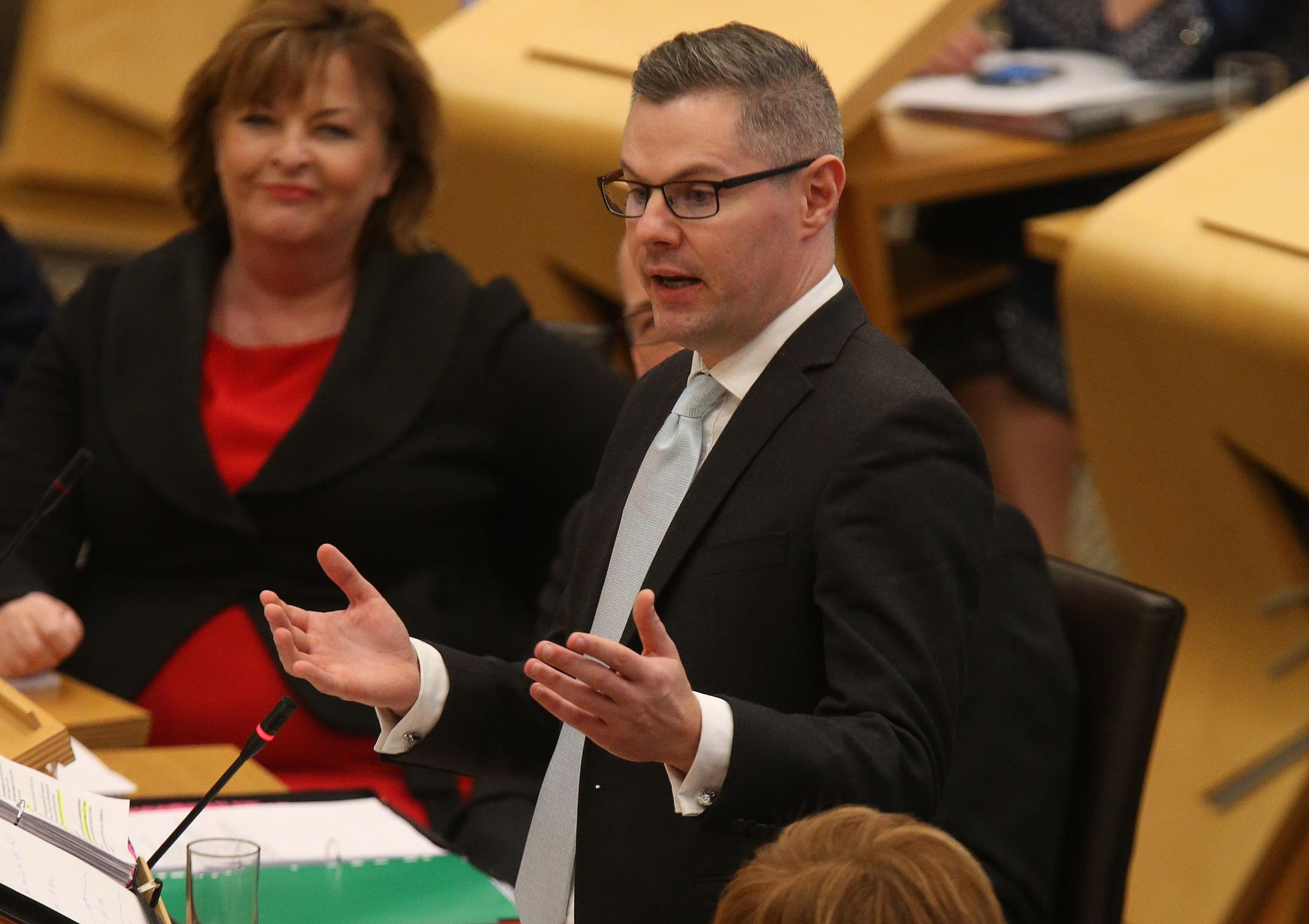 Derek Mackay said now was not the time to give tax breaks to higher earners.