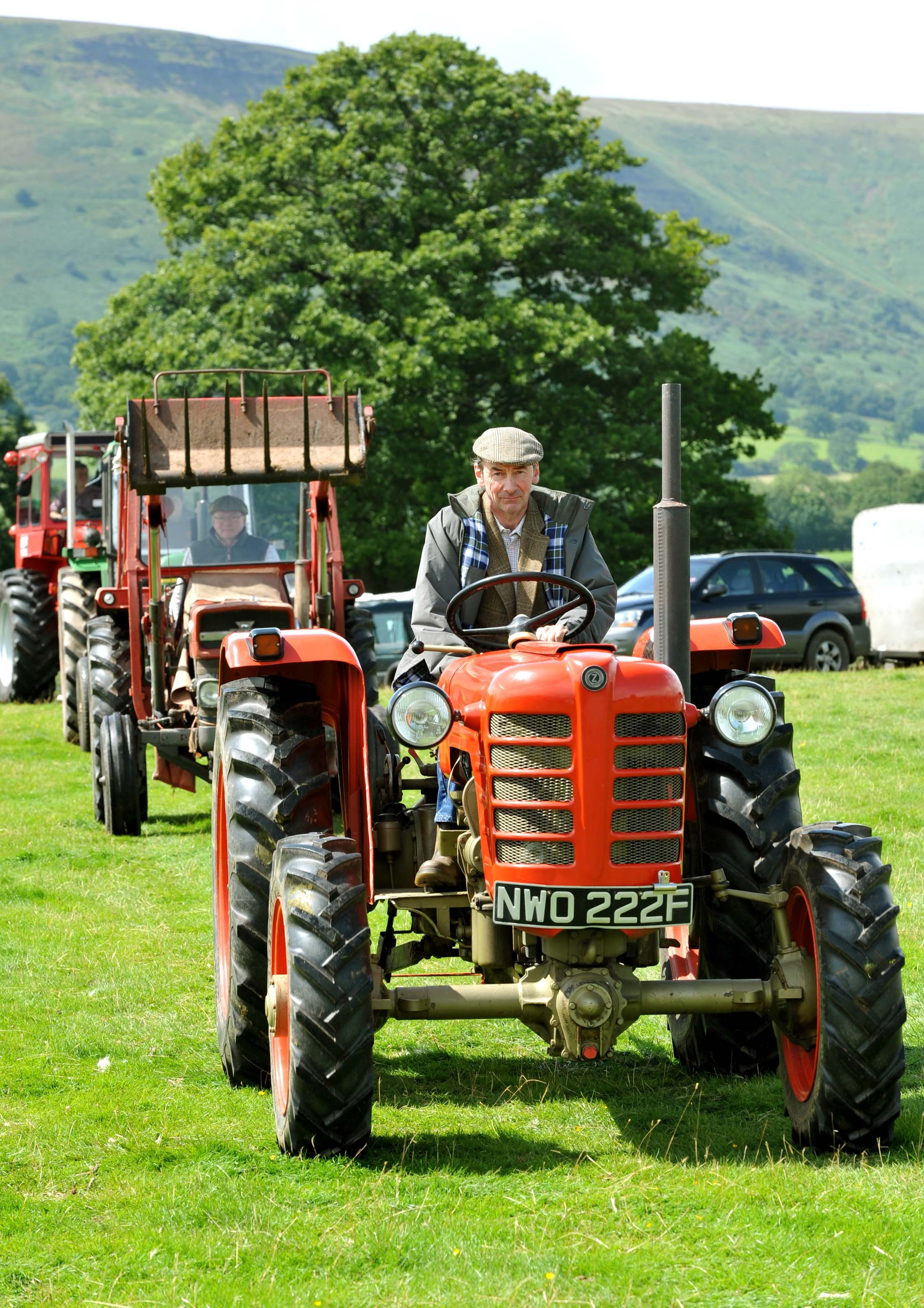The grand parade of  Vintage Tractors at the Longtown Show near Longtown on Saturday.Photo Chas Breton.