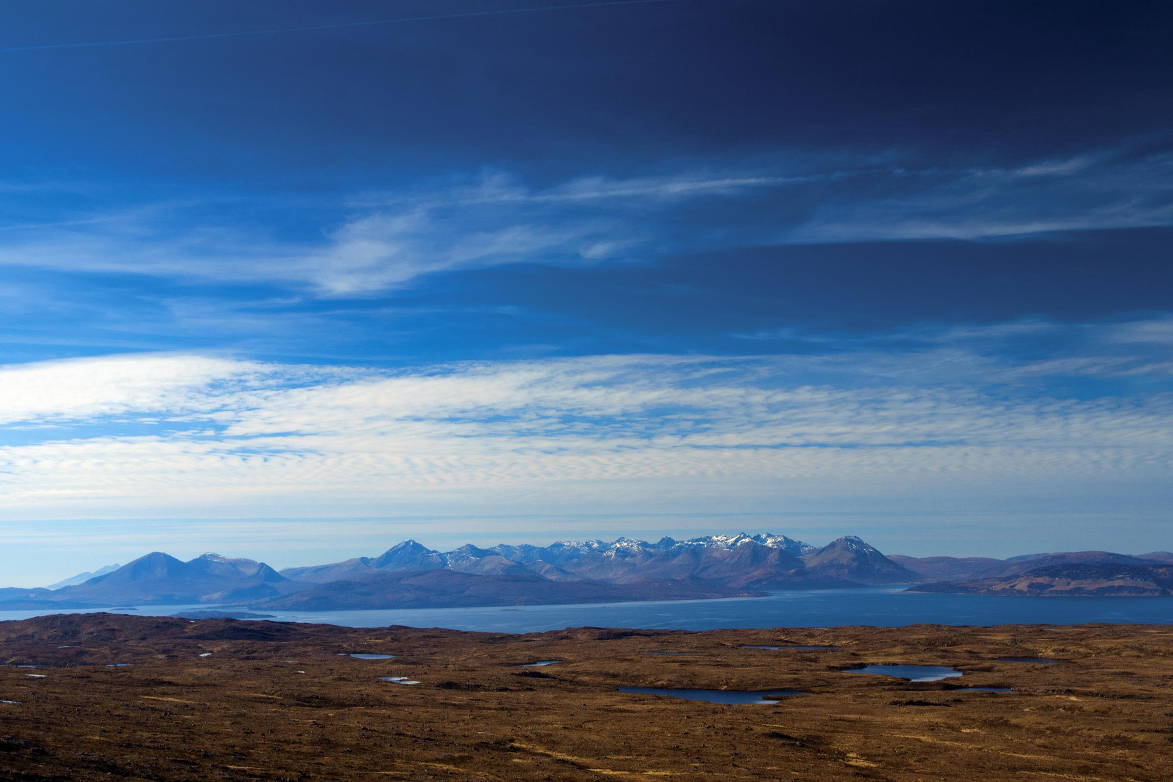 The Bealach na Ba above Applecross grants a mouthwatering view of Skye and its iconic mountains. PHOTO by Keith Fergus