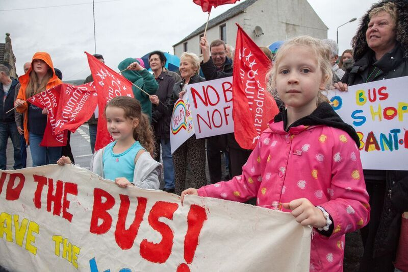 Unite campaigners are calling for buses to be re-regulated