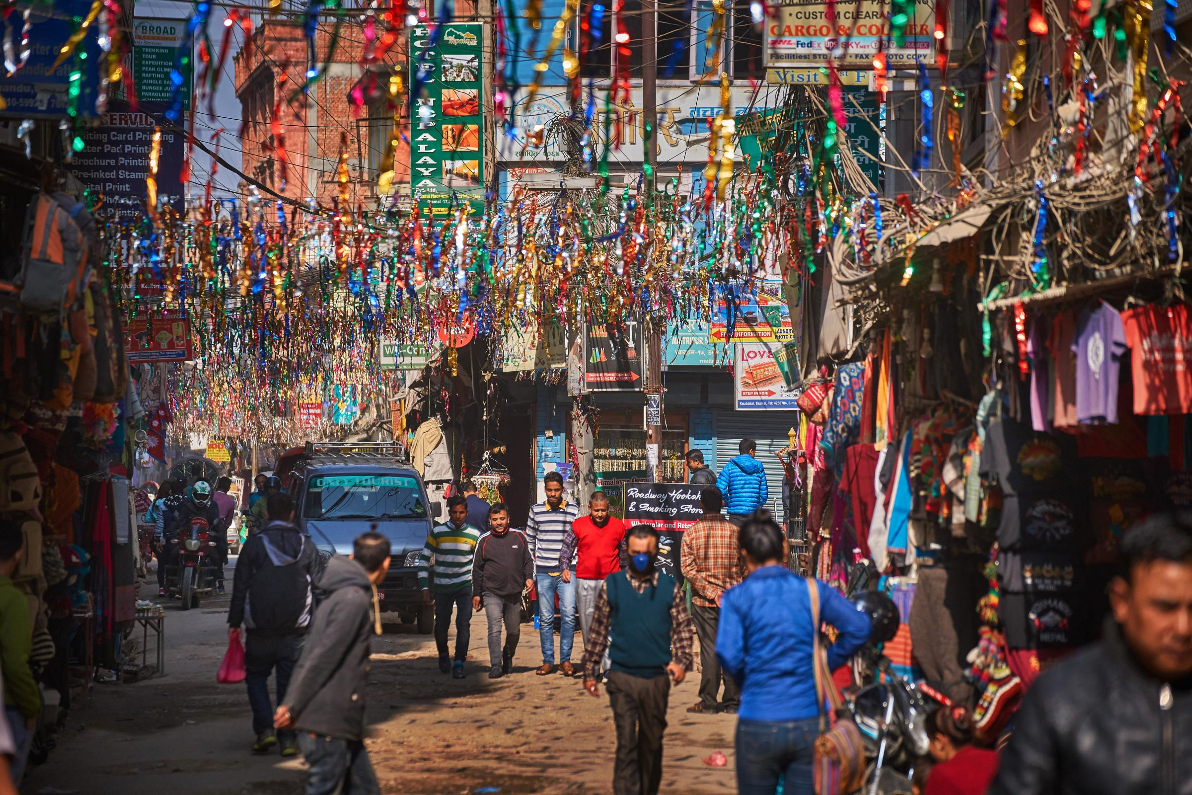 Cars and cows and hens and fumes: Rupert Wolfe Murray on the hazards and joys of cycling in central Kathmandu
