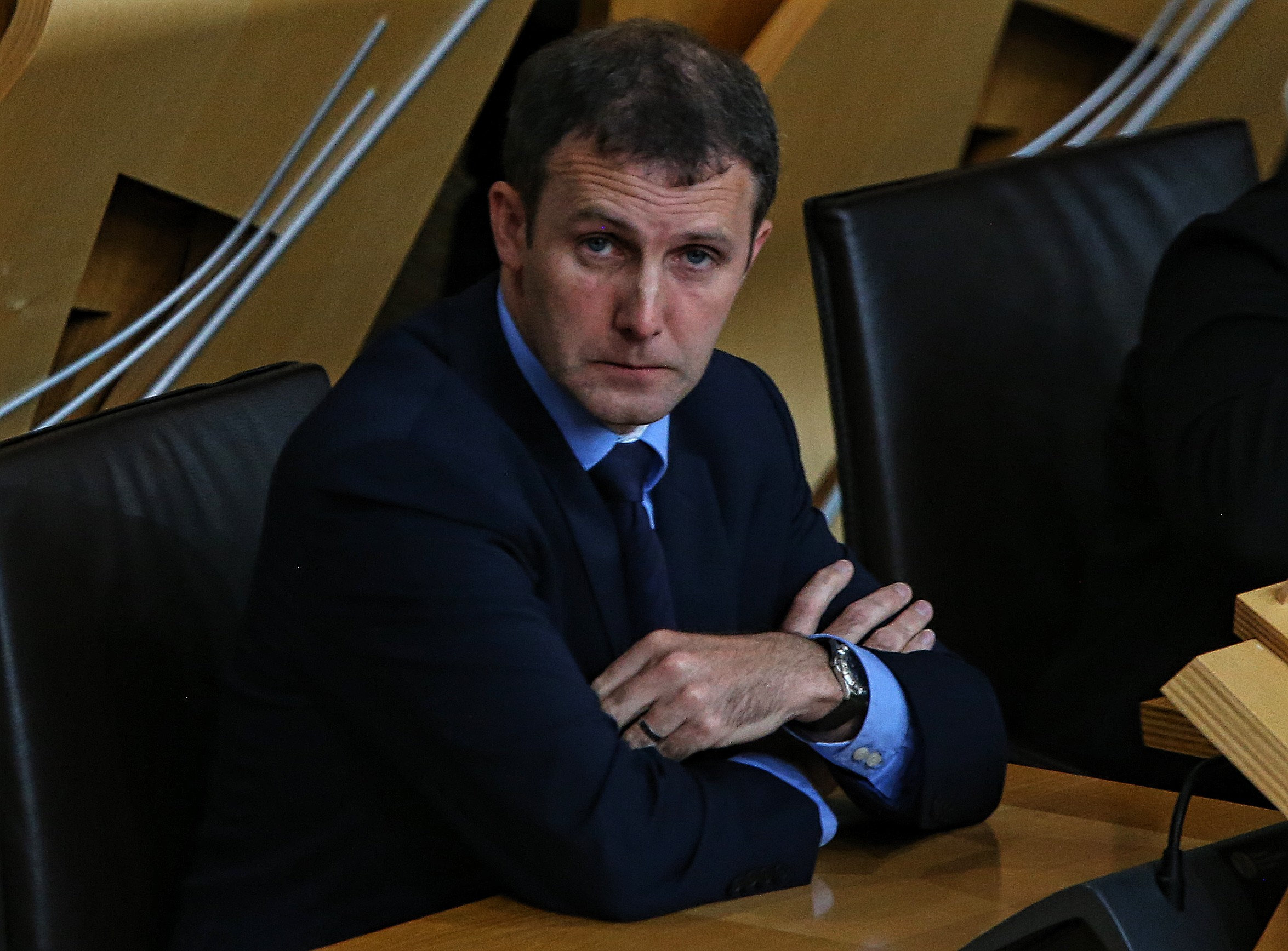 Justic Sec Michael Matheson in the Scottish Parliament chamber thursdayPic Gordon Terris/The Herald3/9/15