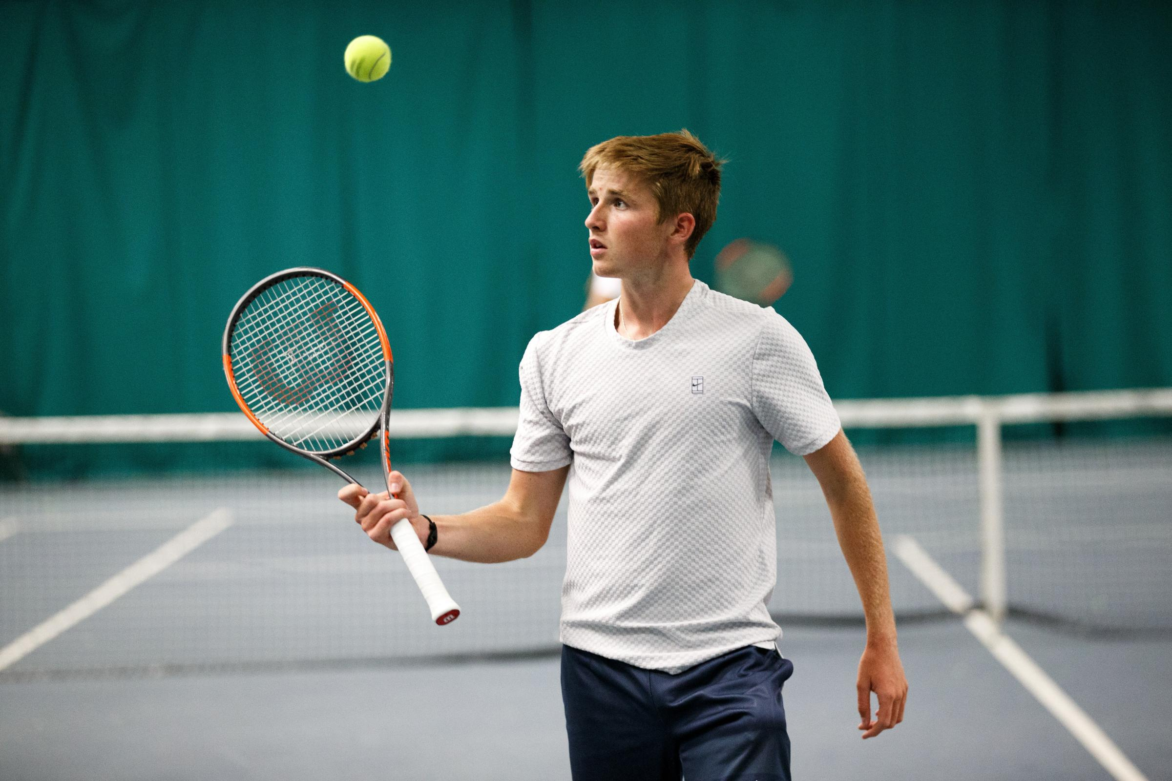 Tennis player Aidan McHugh at Scotstoun...Picture Robert Perry 30th Jan 2017..Must credit photo to Robert Perry.FEE PAYABLE FOR REPRO USE.FEE PAYABLE FOR ALL INTERNET USE.www.robertperry.co.uk.NB -This image is not to be distributed without the prior cons