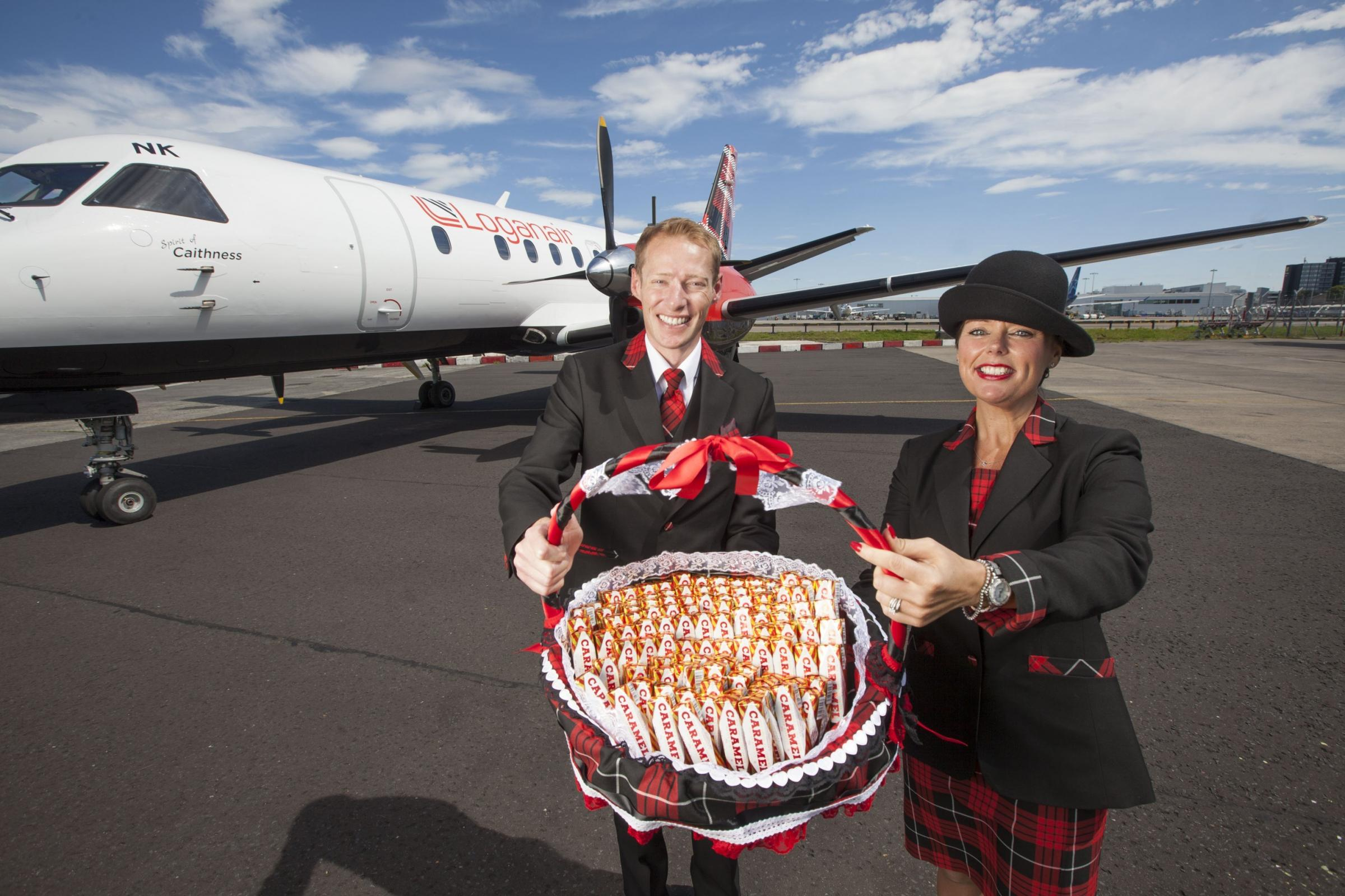 Loganair lauched the new routes from Carlisle yesterday.
