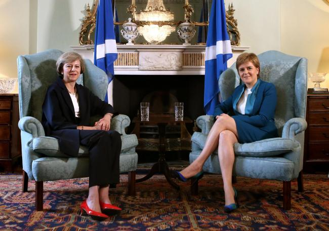 Sturgeon and May meet to try to break Brexit 'power grab' deadlock