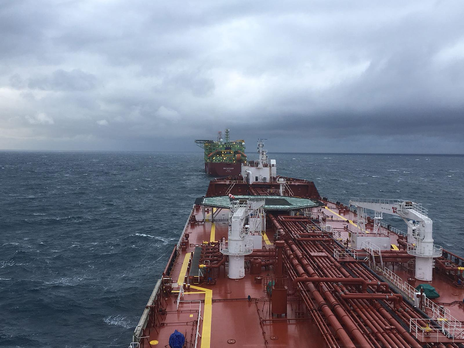 A cargo of crude oil is lifted from the Catcher field developed by Cairn Energy and Premier Oil