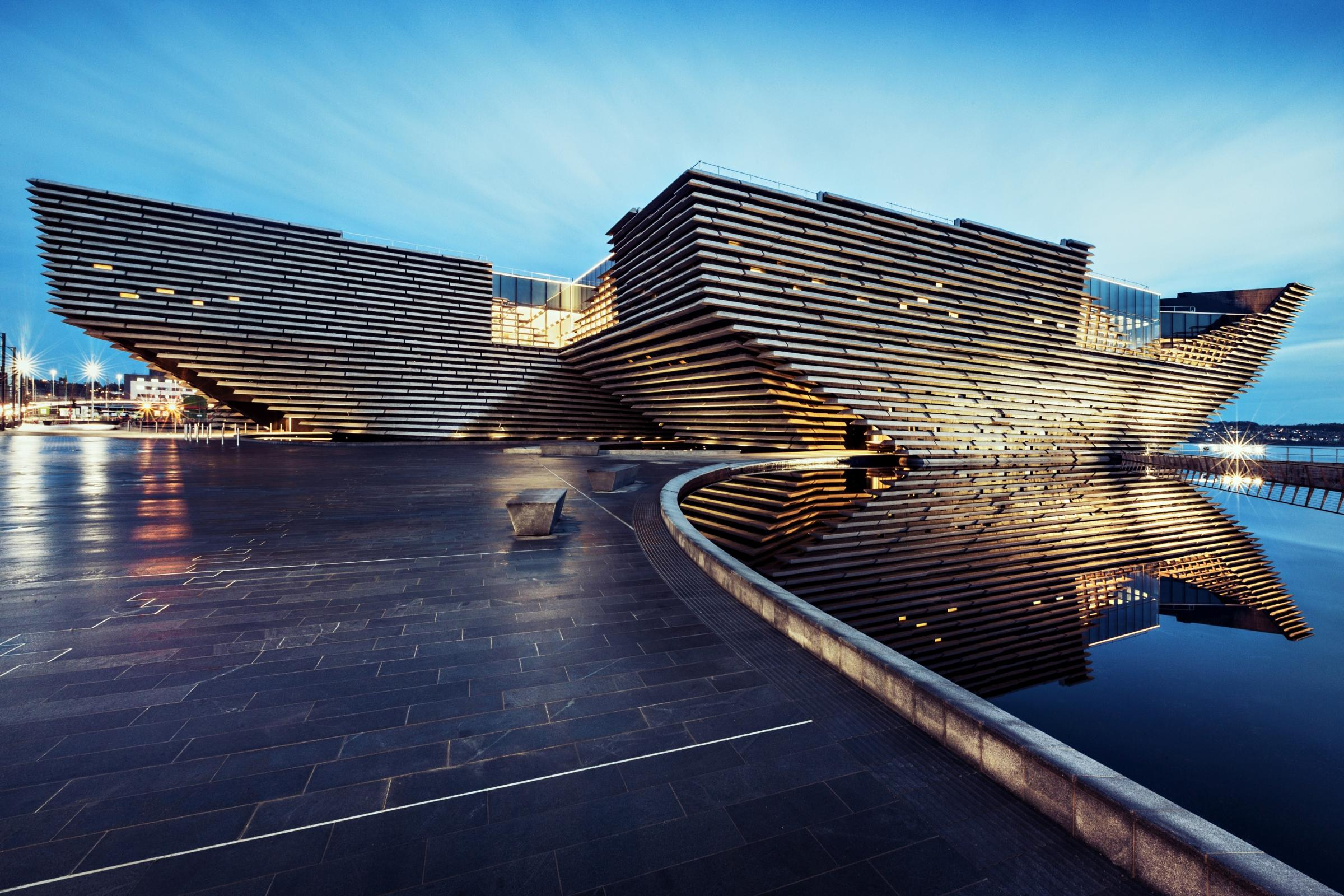 V&A Dundee - designed by Kengo Kuma. Photo: Ross Fraser McLean