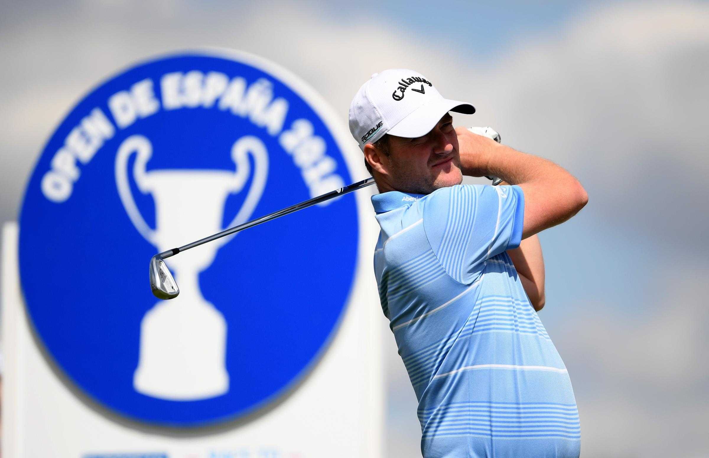 Off his Marc: Marc Warren managed a share of fifth in the Spanish Open (Picture: Getty)