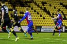 24/04/18 LADBROKES CHAMPIONSHIP. LIVINGSTON V ICT . THE TONY MACARONI ARENA - LIVINGSTON. Liam Polworth scores to make it 1-0 Inverness..
