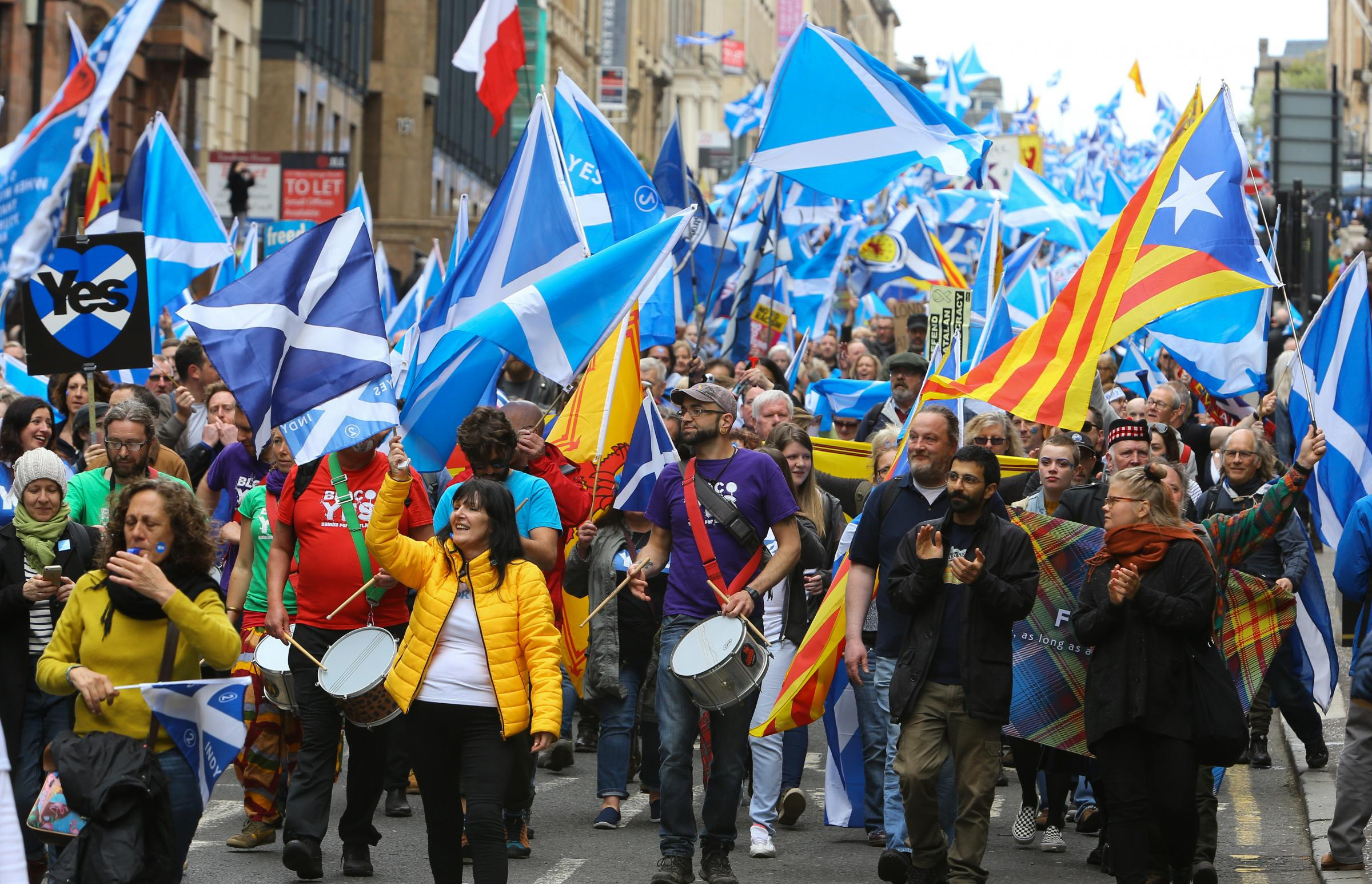 A pro-independence march in May, 2018