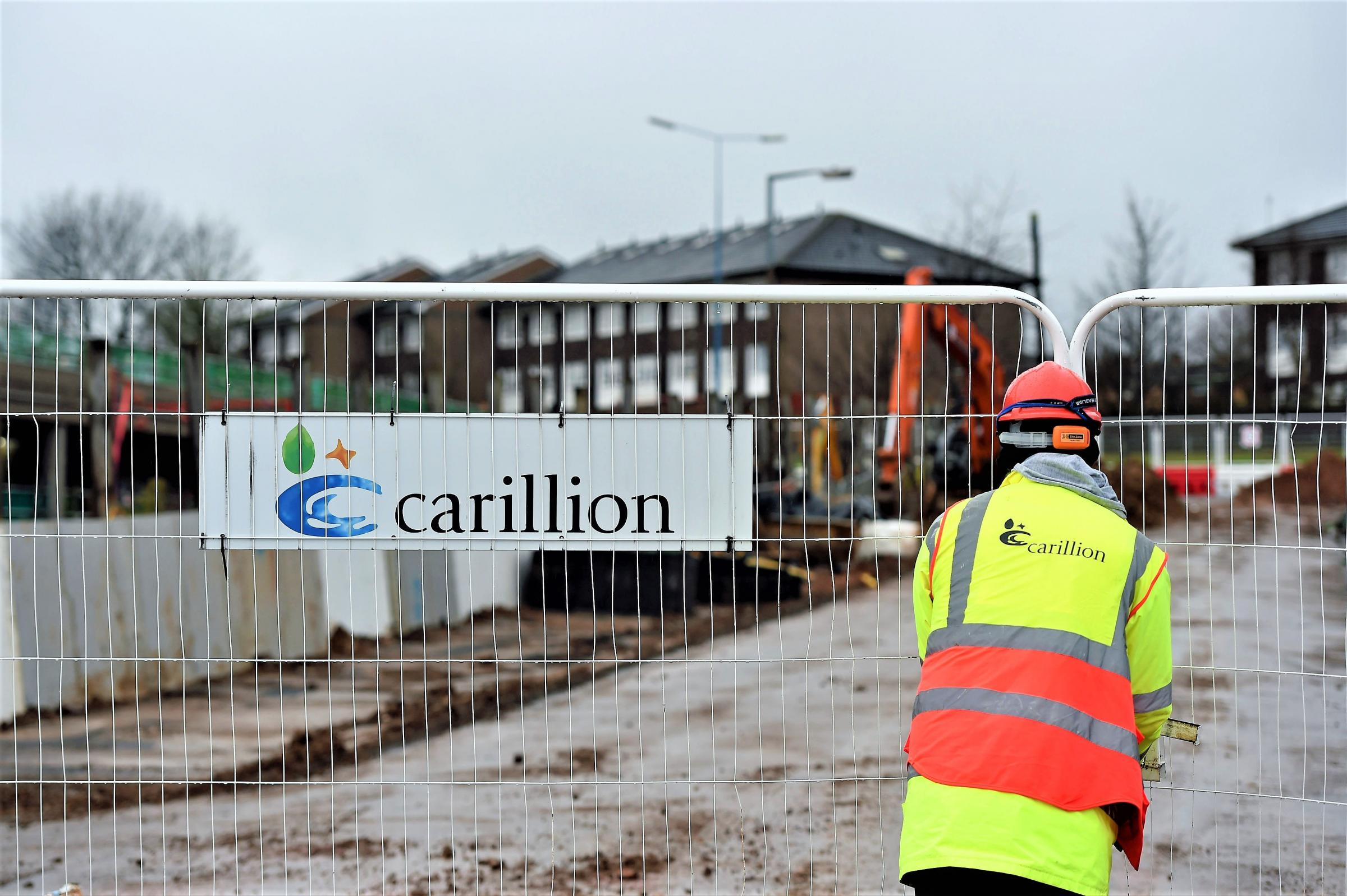 Carillion staff at Midland Metropolitan Hospital in Smethwick. Picture: Joe Giddens/PA Wire.