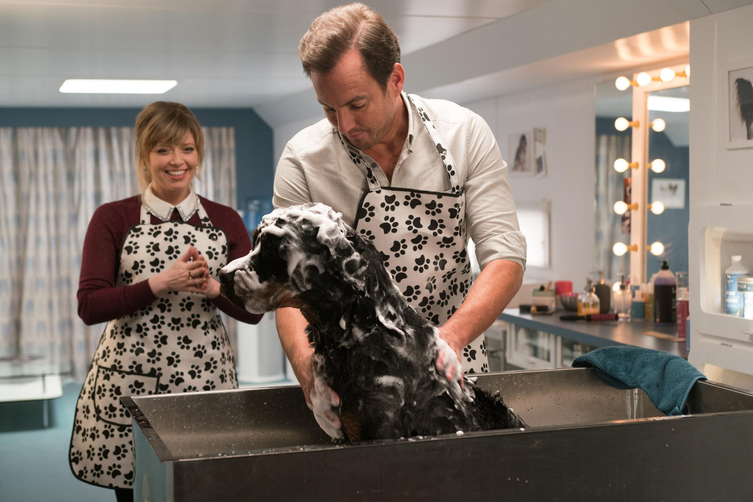 Will Arnett and chum prepare to strut their stuff in Show Dogs