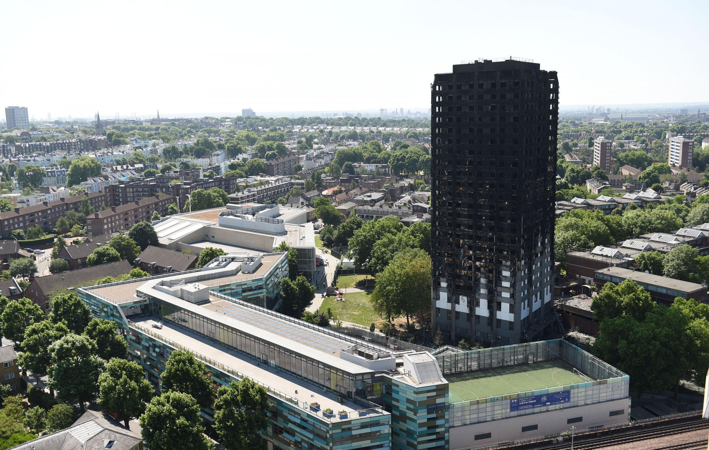 Grenfell Tower after the fire.
