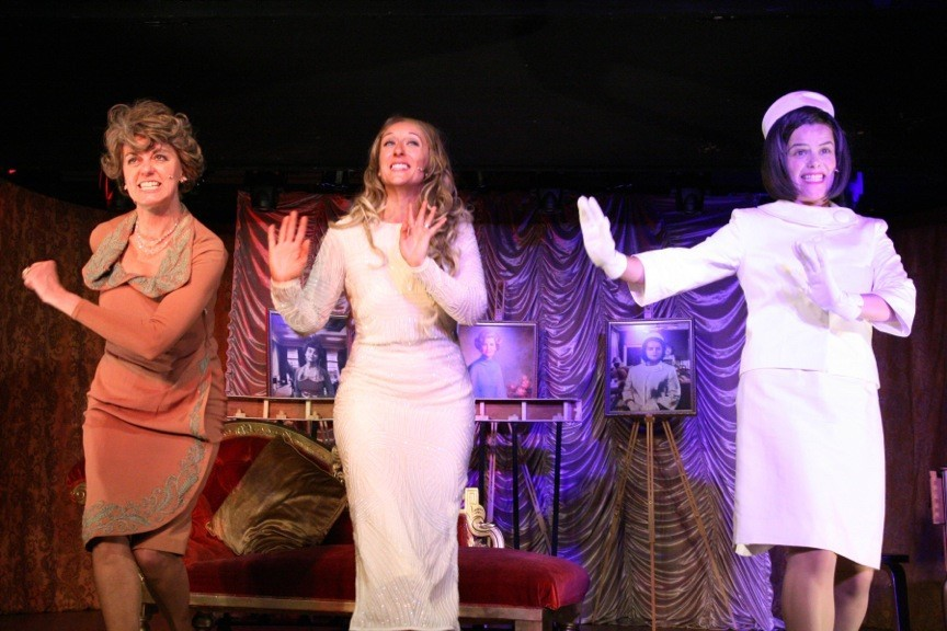 Margaret Preece (Eleanor) ,Melania (Kirsty Malone) and Frances Thirburn (Jackie) in Melania at Oran Mor, Glasgow