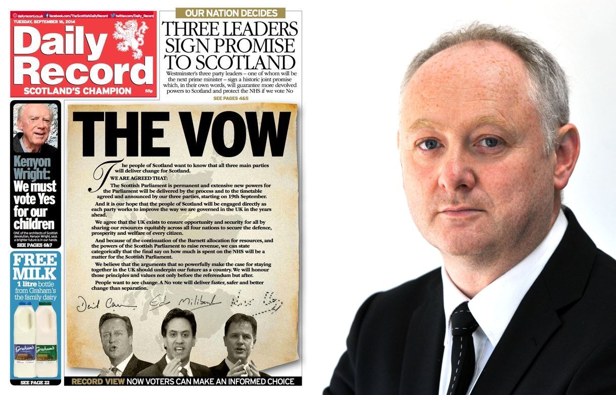 The Vow was organised by then Daily Record editor Murray Foote. Portrait courtesy of Murray Foote.