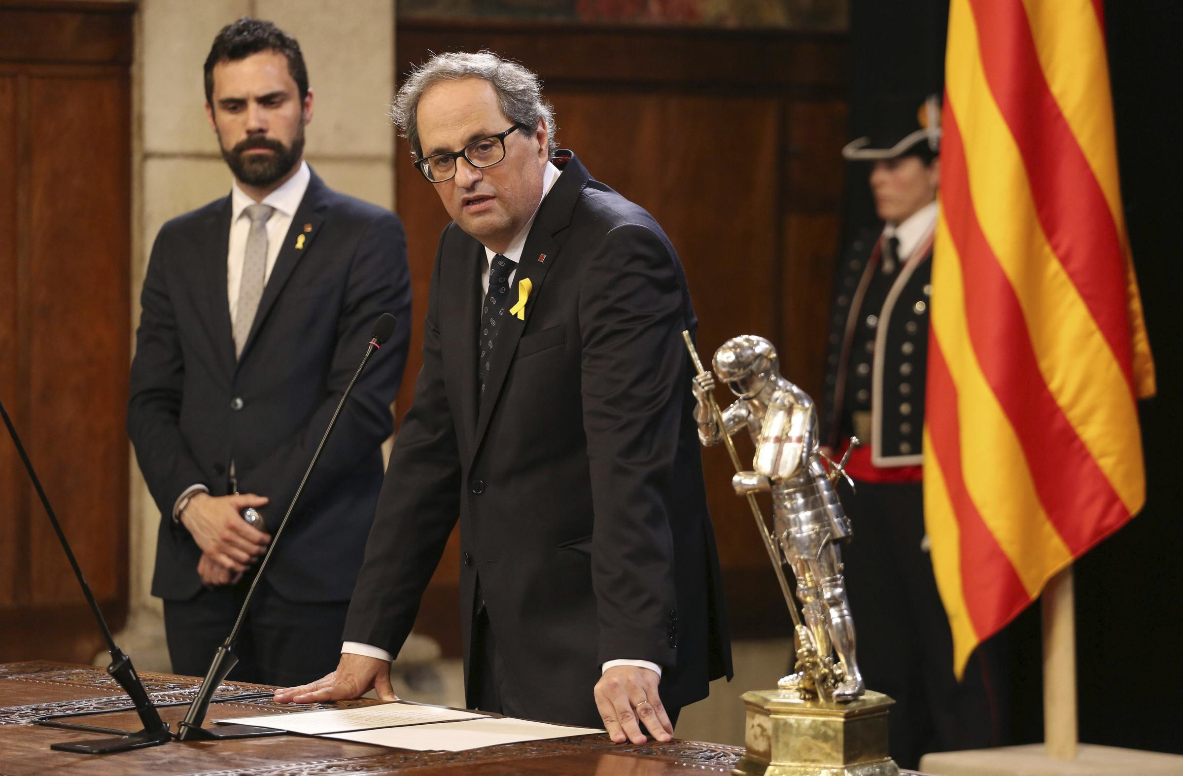 President of Catalonia Quim Torra