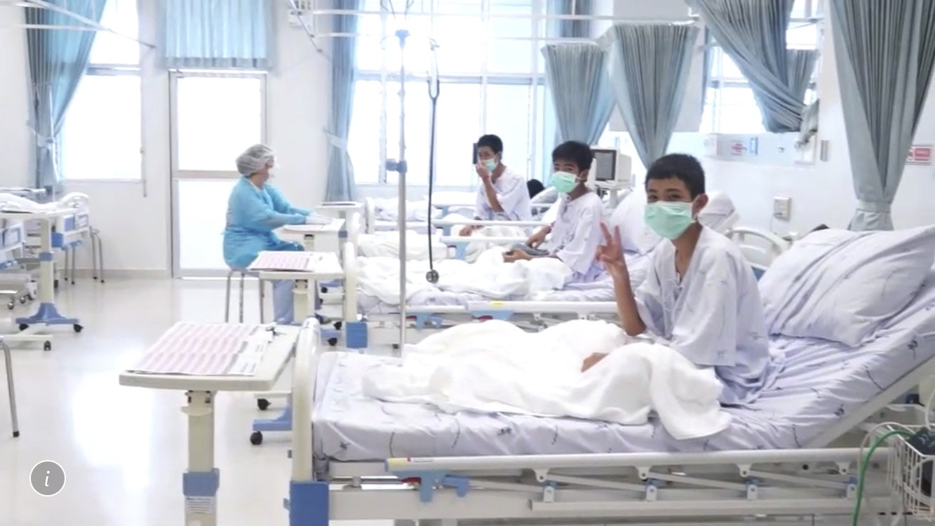 Rescued Thai boys recuperating in hospital after cave drama