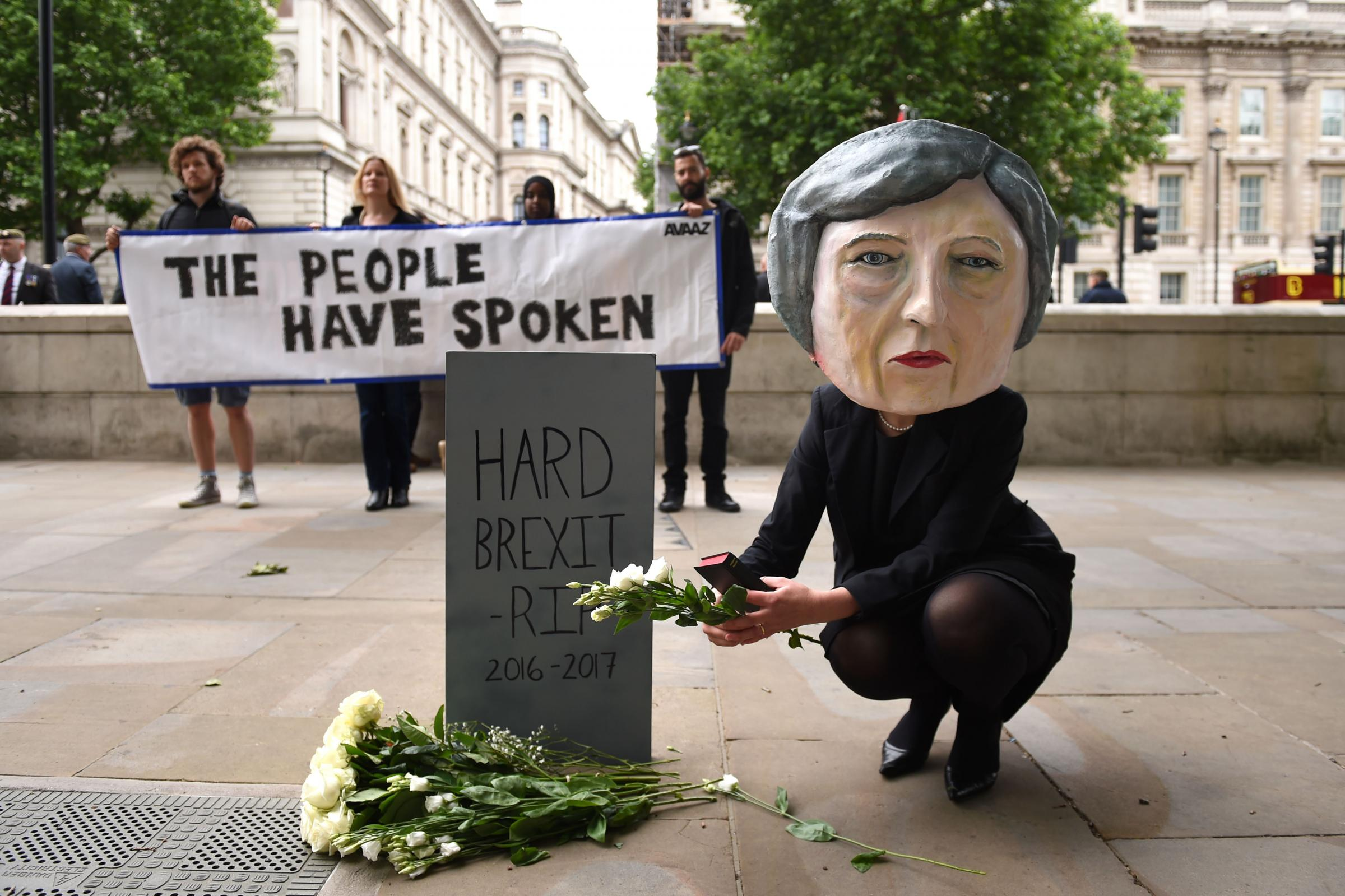 The UK has seen protests over a hard Brexit. Picture: PA Wire.