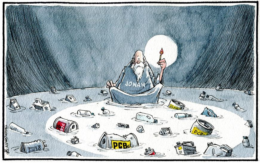 Camley's Cartoon on Friday, October 12: Warning over polluted seas.