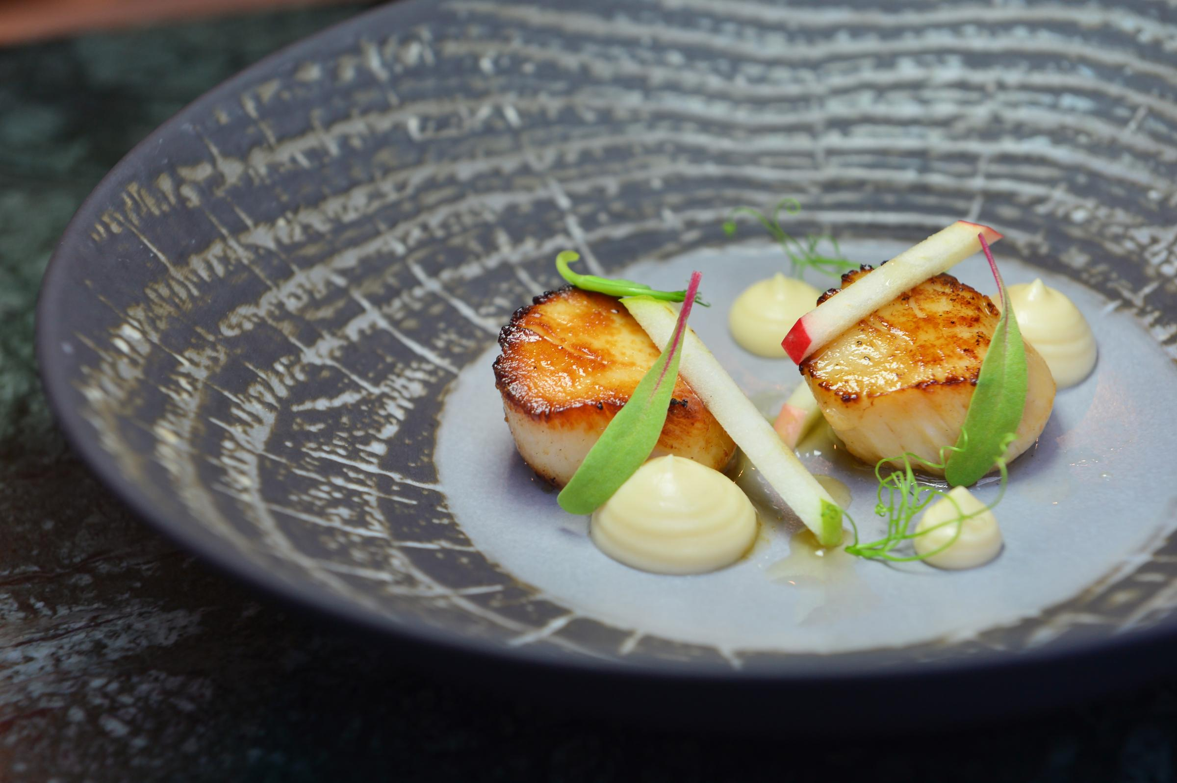 Recipe of the Day: Hand-dived Scottish scallops, celeriac, apple and truffle by Simon Attridge, executive chef at Gleneagles