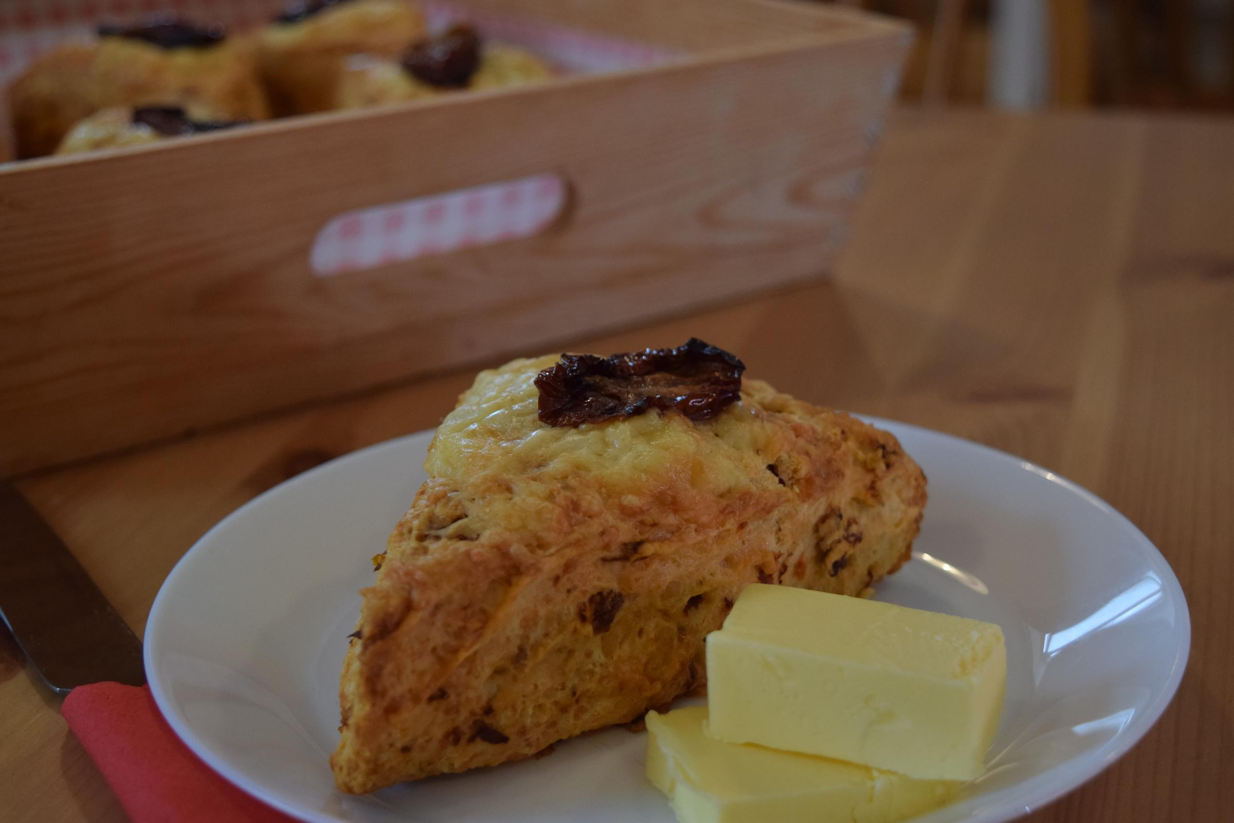Recipe of the Day: Sun-dried tomato & cheddar scones by Bad Girl Bakery