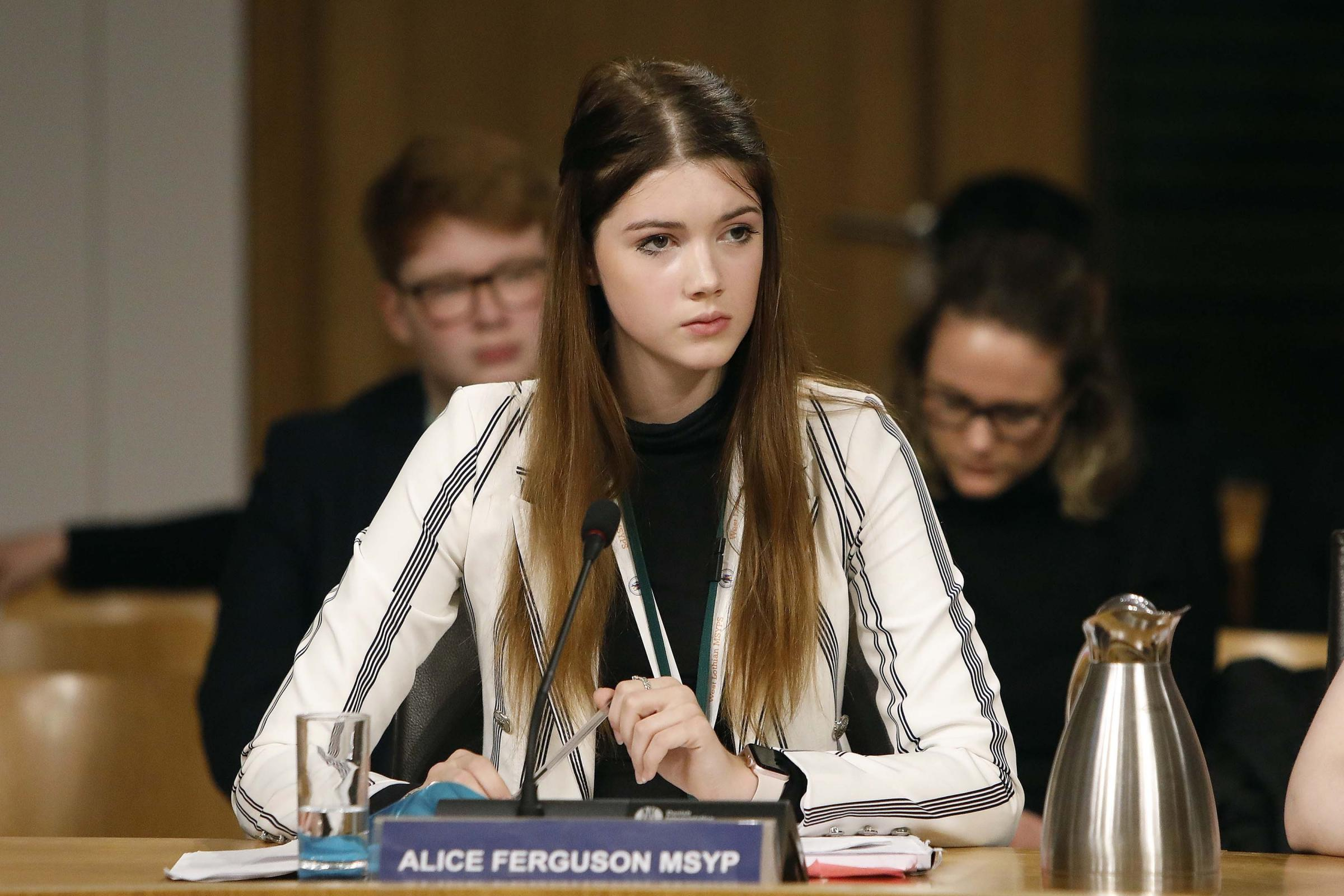Alice Ferguson at the Scottish Parliament's education committee (Andrew Cowan/Scottish Parliament)