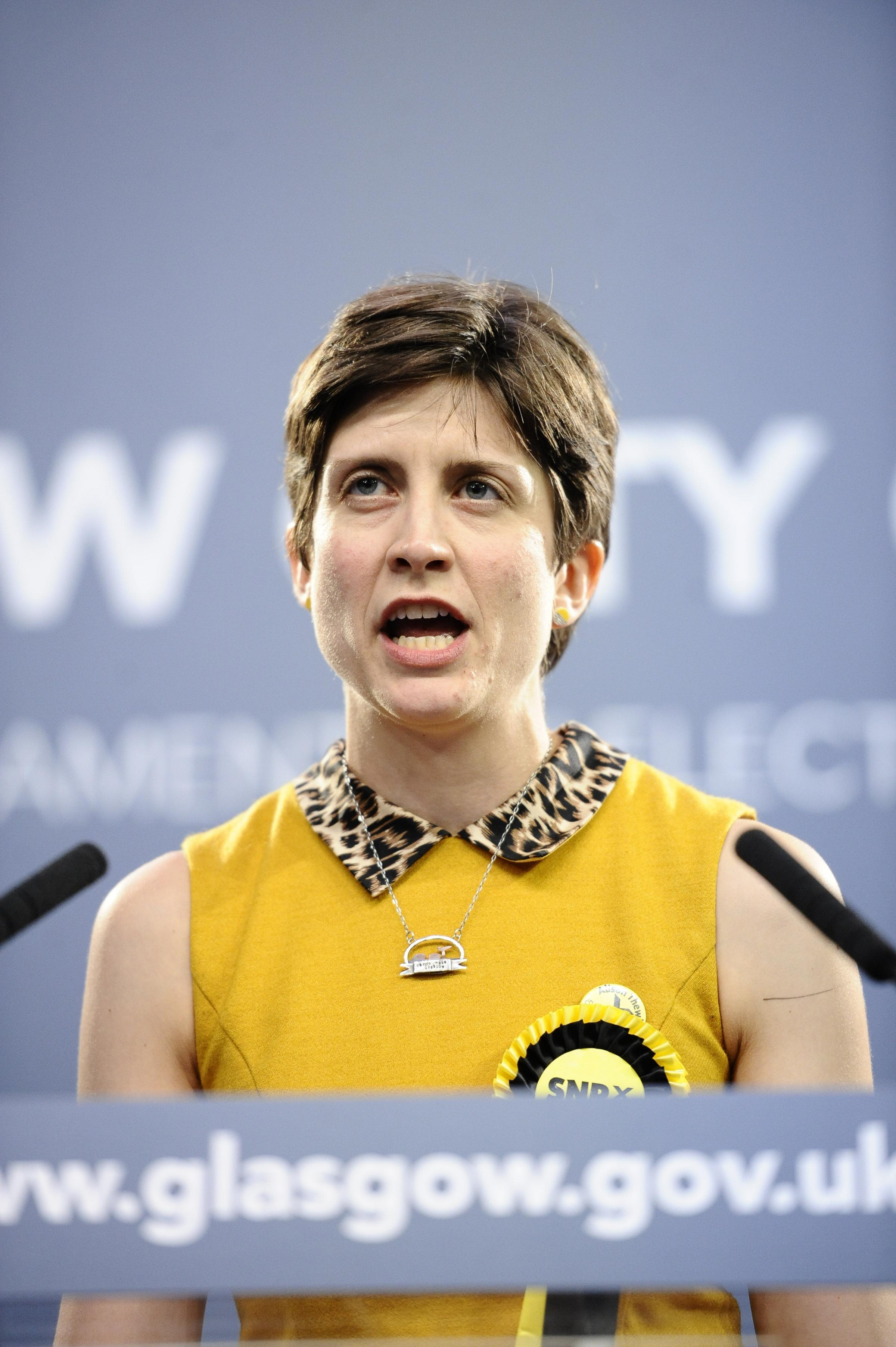 GLASGOW, SCOTLAND - JUNE 09: SNP's Alison Thewliss wins the Glasgow Central seat at the Emirates arena Glasgow count of the UK Parliamentary election on June 09, 2017 in Glasgow, Scotland. (Photo by Jamie Simpson/Herald & Times) - JS.