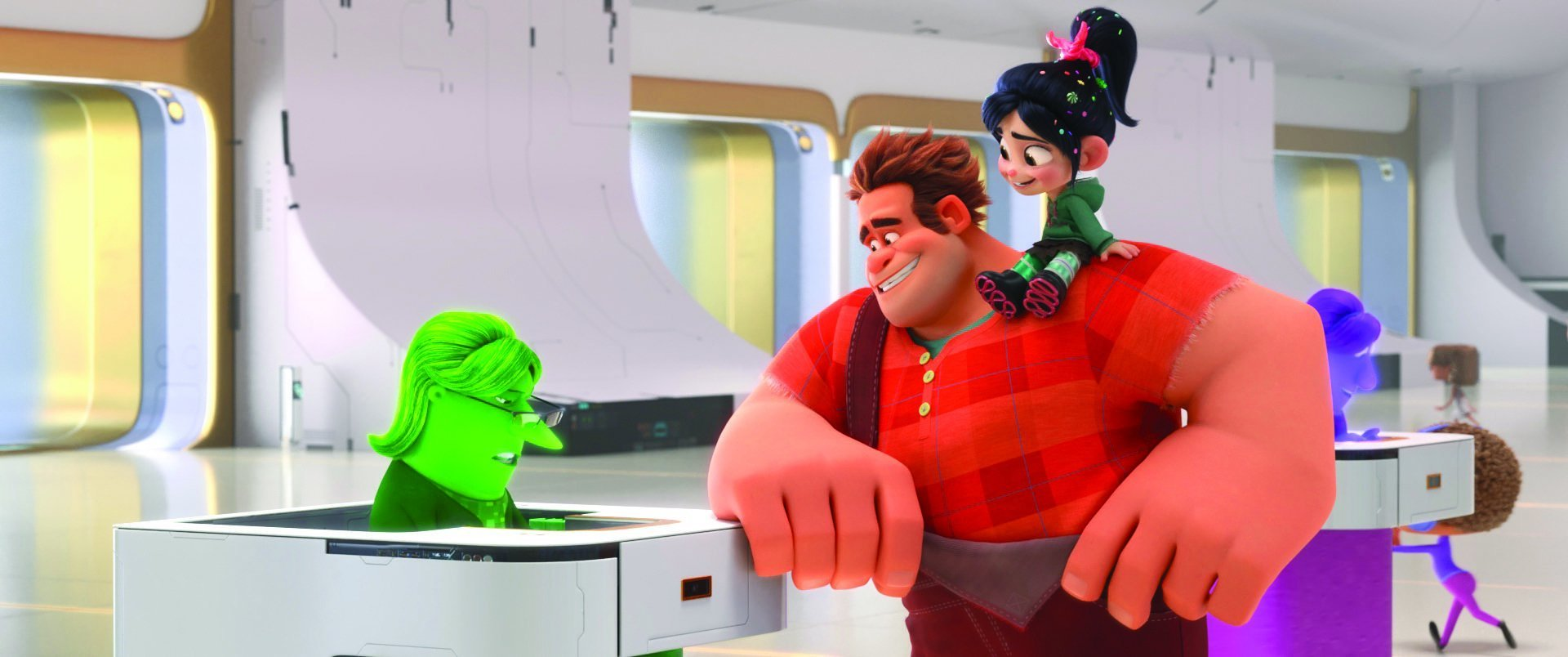Ralph and Vanellope are on a mission inside the internet. PA Photo/Di