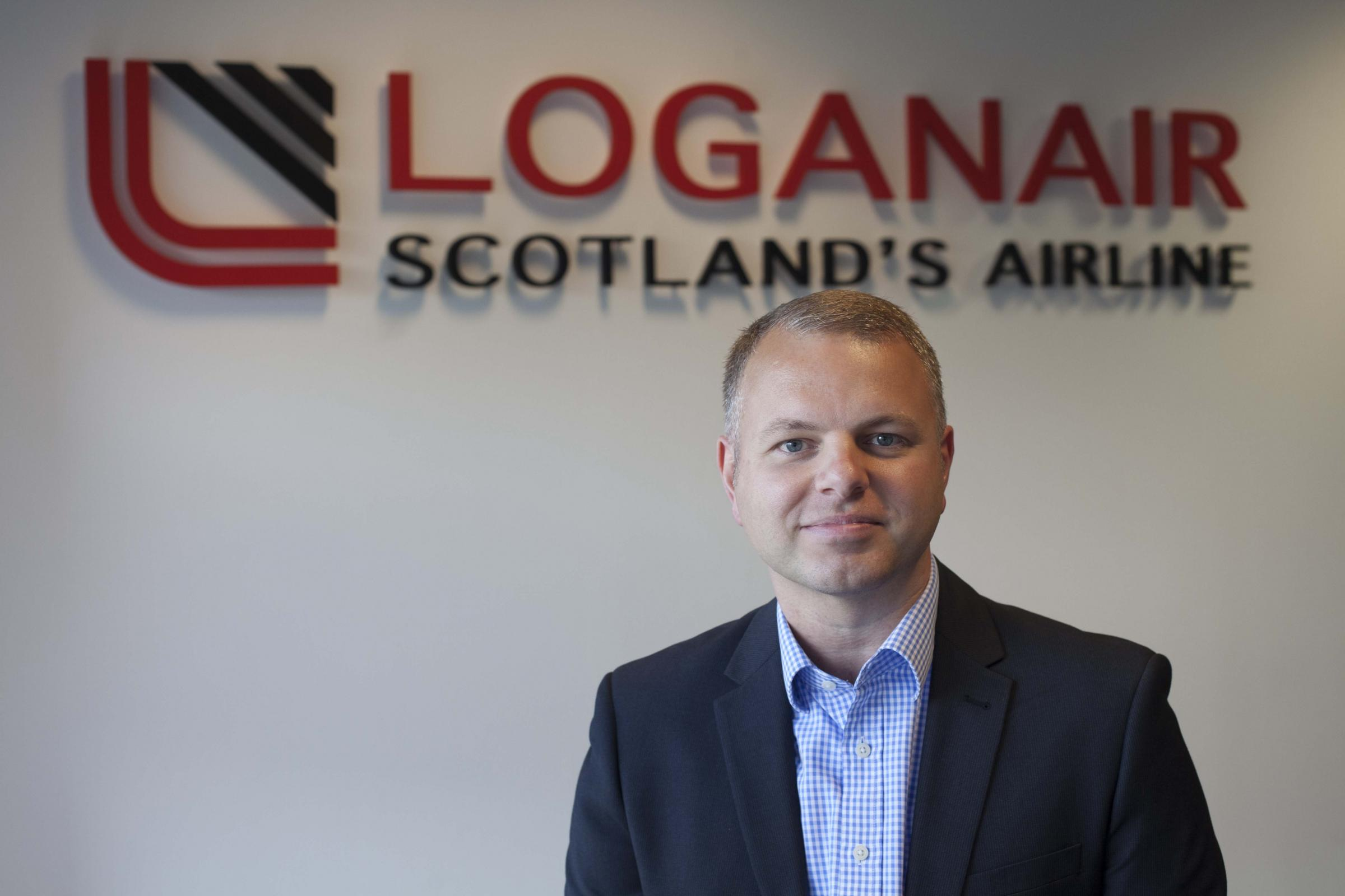 Loganair's new MD, Jonathan Hinkles.
