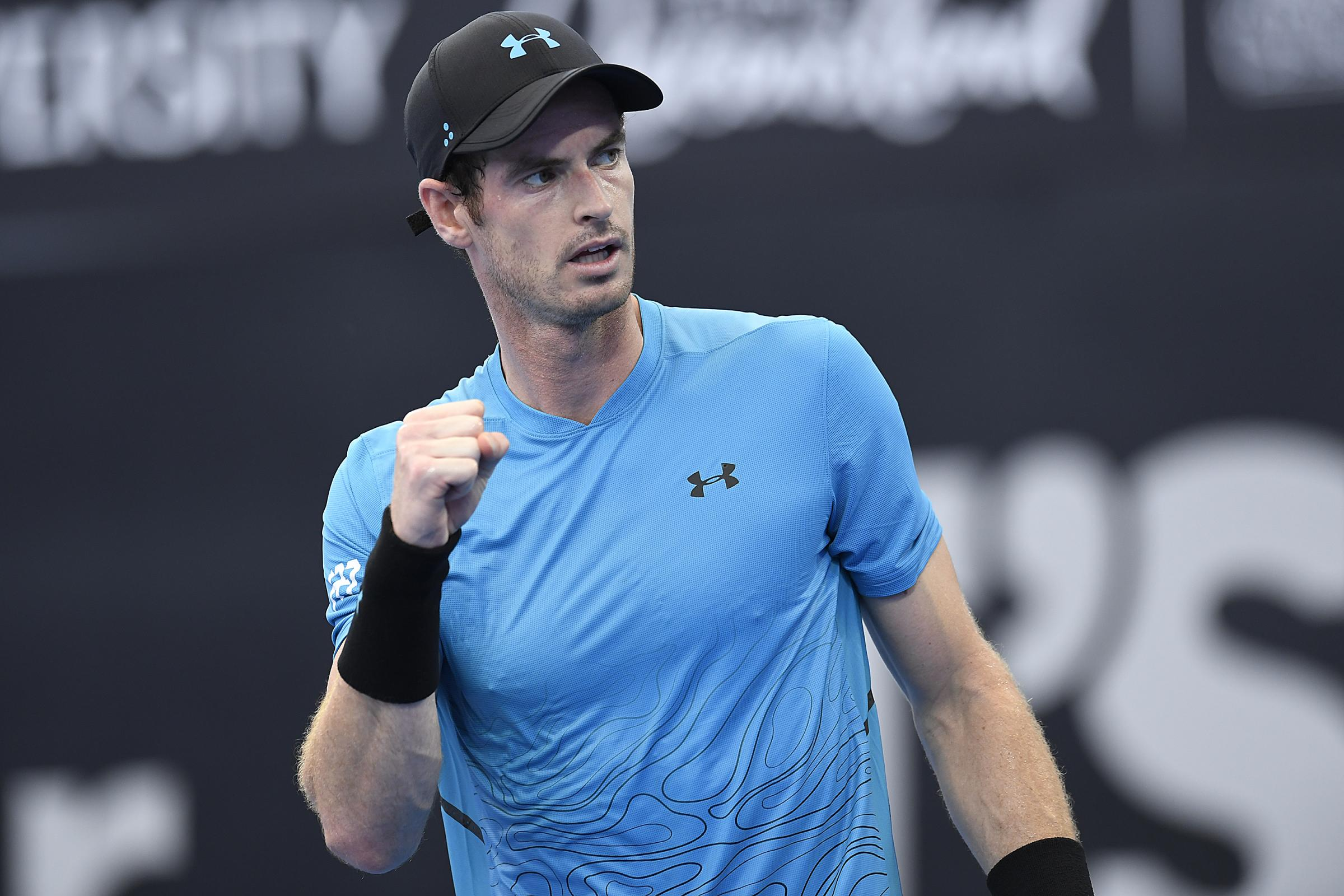 Andy Murray was in action in the Brisbane International on Tuesday