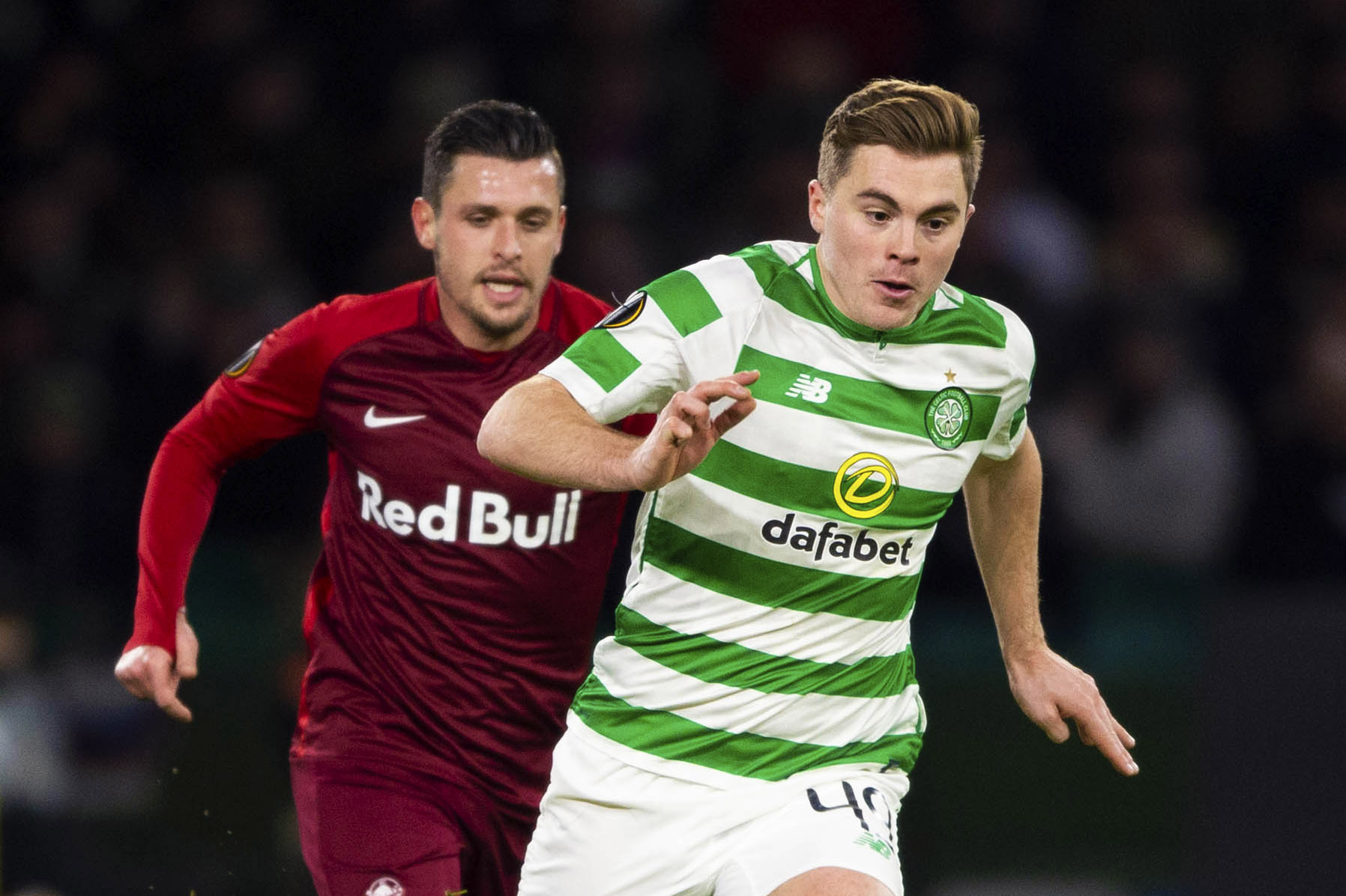 James Forrest would become Celtic's most senior player if Scott Brown leaves - a title he doesn't want just yet