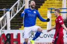 Queen of the South's Stephen Dobbie celebrates his opener