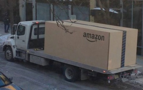 "A reader astonished by the over packaging of Amazon products he orders on-line sends us this photo and comments: ""I see someone who ordered a pencil is getting it delivered."""