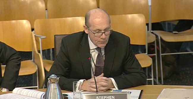 Mr Whitelock giving evidence to the Scottish Parliament